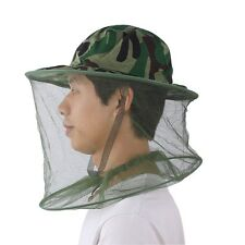 Camouflage Field Jungle Mesh Face Mask Cap Mosquito Bee Bug Insect Fishing Hat