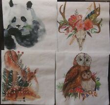 10 Paper Napkins Variety Designs Animals Cocktail Napkins