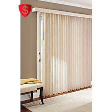 Vertical Window Blinds Decor Privacy Door S-Slat Patio Large Vinyl Windows