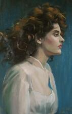 Profile of a woman (original oil painting)