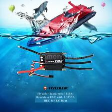 Flycolor Waterproof 150A Brushless ESC + 5.5V/5A BEC for RC Boat J8Y5