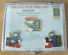 Centennial Olympic Games 3 - pins set Share Our Dream Atlanta 1996 Olympics pin