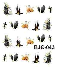 Nail art stickers décalcomanie: Déco Halloween croix citrouilles sorcières