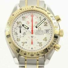 Authentic OMEGA REF. 3313 33 Speedmaster Date Gold & Steel  Automatic  #260-0...