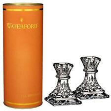 """Waterford Crystal Giftology Collection Lismore 4"""" Candlesticks Set of 2 New"""