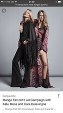 Mango (Kate Moss ) Fringed Cape ( One Size)