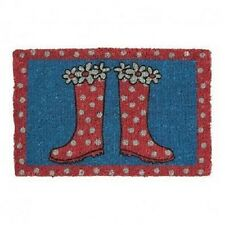Bombay Duck Spotty Spots Flowers Wellies Wellingtons Novelty Picture Doormat