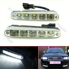 2Pcs 5 LED High Power 5W Day Driving Daytime Running Lights DRL Fog Lamp Light