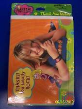 RARE Lizzie McGuire Hilary Duff Disney Kids Birthday Party Thank You Notes Cards