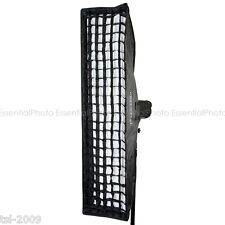 35x160cm Elinchrom Fit Recessed Studio Strobe / Flash Strip Softbox & 5cm Grid