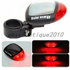 LED Solar Power Bicycle Bike Rear Tail Lamp Light Self-Recharge Red Reflectors