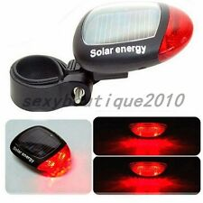 Outdoor LED Solar Power Bicycle Bike Rear Tail Lamp Light Cycling Red Reflectors