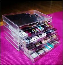 Cosmetic Jewelry clear Acrylic case 5 Multipurpose drawer Organizer Case New