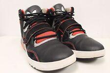 Adidas Hi Top Basketball Shoes Big Logo Black Orange Silver Sz 13 Art G4705