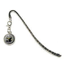 Witch - Halloween - Metal Bookmark Page Marker with Charm