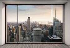 "Ciudad de Nueva York Mural De Pared Foto Wallpaper ""Penthouse"" gran tamaño de papel de arte de pared"