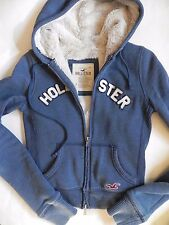 Hollister~Blue Sweatshirt style w Thick Soft Lining Jacket Coat size Small
