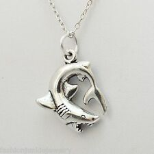Great White Shark Necklace - 925 Sterling Silver Shark Charm Jewelry *NEW* Ocean