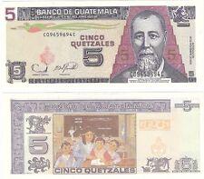 Guatemala 5 quetzales 2006 P-106b UNC Uncirculated banknote Neuf