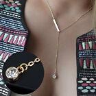 Women Fashion Pendant Chain Crystal Choker Chunky bib Statement Long Necklace