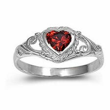 USA Seller Baby Ring Sterling Silver 925 Best Deal Jewelry Garnet CZ Size 1