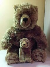 "Large 19"" Mother Teddy Bear & Baby Plush stuffed animal toy boys girls"