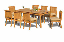 9 PC TEAK DINING SET GARDEN OUTDOOR PATIO FURNITURE POOL GIVA DECK ARMLESS CHAIR