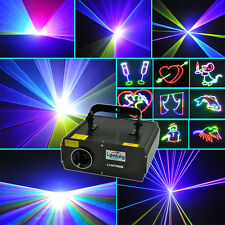 4x 1W RGB DMX Full Color ILDA Animation Laser Light DJ Stage Effect 1Watt 1000mW