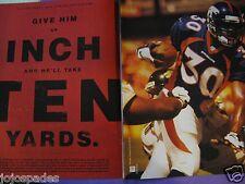 """1997 Nike Team Sports Ad-8.5 x 10.5""""-Terrell Davis-Denver Broncos"""