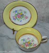 WINDSOR TEACUP SAUCER SET - TEA CUP, Bone China pat. 263/49 Flowers
