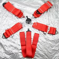Seat Belt 6 Point Racing Harness Kit Quick Release Track / Race / Drift Car Red