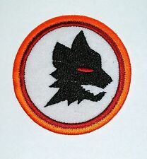 Testa Di Lupo Nero iron-on Animale Selvatico Patch Ricamato / Logo Foxhound
