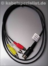 Commodore c64 cable y/C en 3x RCA cinch 2,0 metros