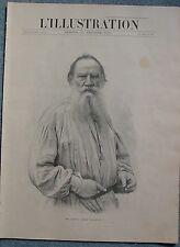 L'ILLUSTRATION 3077 15/2/1902 LEON TOLSTOI SIAMOISES LES MINEURS GUERRE COLOMBIE