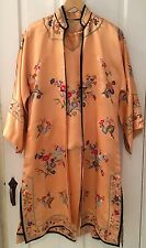 Vintage Silk Chinese Suit 3 pc. Pants Jacket Shirt Hand Stitched Embroidered M L
