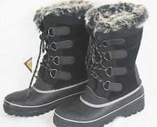 NWT Women's Black KHOMBU North Star  Artic Winter Snow WATERPROOF BOOTS Size 9