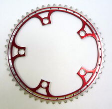 Red ChainringAnodized Rino 53T 144 Bcd Drilled Fits Campagnolo Cranksets NOS