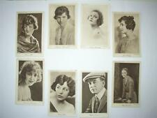 20 Cinema Chat Film Stars plain back sepia old postcards