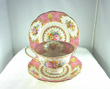 Antique 1940's Royal Albert Lady Carlyle China 855022 Trio Tea Set