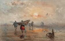 MAJOR-GENERAL GEORGE CHARLES D'AGUILAR Painting FISHING IN THE SHALLOWS c1840