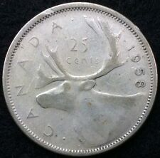 Canada 1958 25 Cents Coin Silver Canadian Quarter .25C #1086