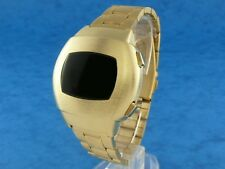 THE HULK 1970s 70s Vintage Style LED LCD DIGITAL Rare Retro Mens Watch GOLD