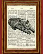 Millennium Falcon Star Wars Dictionary Art Print Book Picture Poster Gift