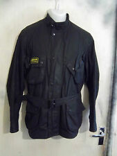 BARBOUR FLYWEIGHT INTERNATIONAL SUIT WAXED MOTORCYCLE JACKET SIZE M