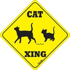 Cat Xing Novelty Signs More Crossings Available