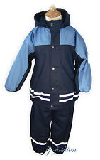 NEU Winter Regenset mit Fleece Futter in BLAU Gr.80