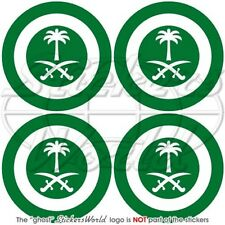 "SAUDI ARABIA AirForce RSAF Aircraft Roundel 50mm (2"") Stickers Decals x4"