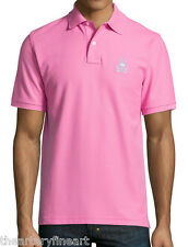 PSYCHO BUNNY Men's Contrast Embroidered Logo Piqué Polo Shirt Pink 4 S $95 NWT!