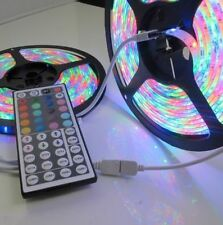 2x5M 3528 SMD RGB 600 LED Strip light string tape+44 Key IR remote control