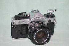 Canon AE-1 Program 35mm Camera with 50mm f1.8 Lens